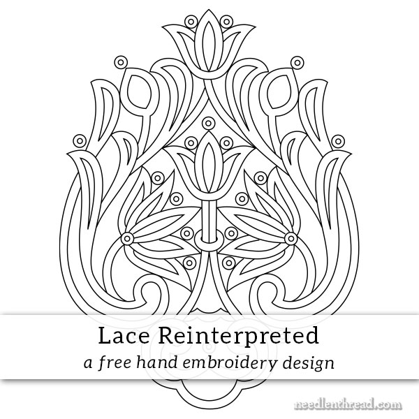 Lace Reinterpreted hand embroidery design