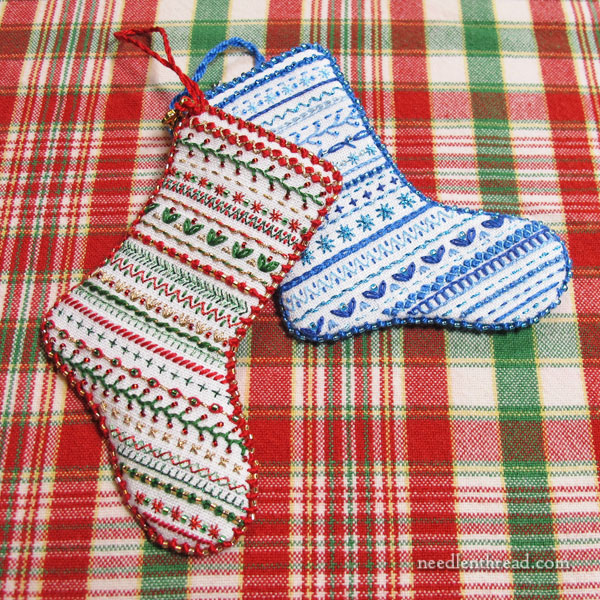 Mini Sampler Christmas Stocking ornament kit