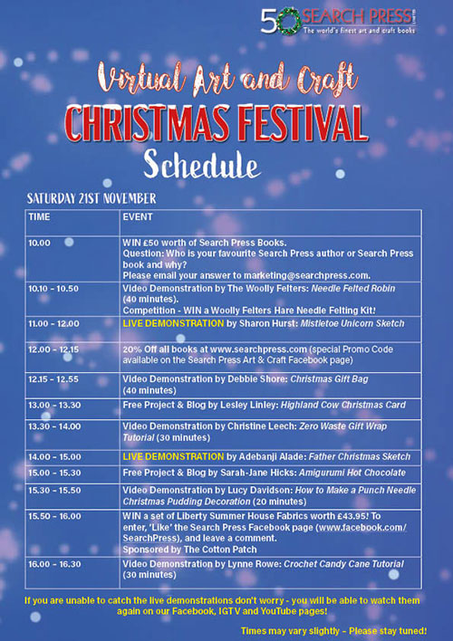 Search Press Virtual Art and Craft Christmas Festival