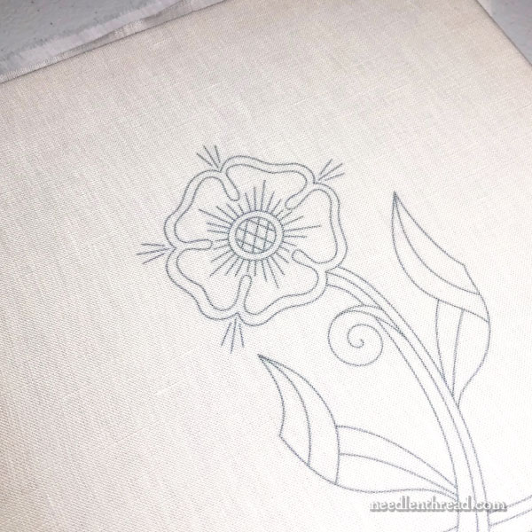 Goldwork Rose Embroidery Design