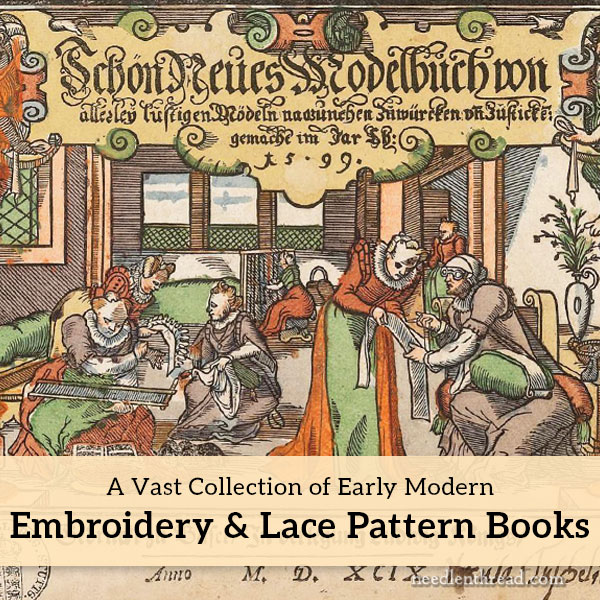 online collection of embroidery and lace pattern books