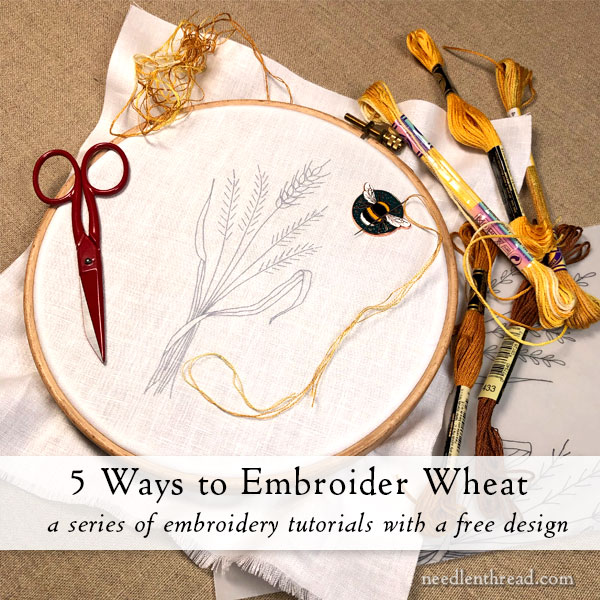 How to Embroider Wheat: five ways - free embroidery design