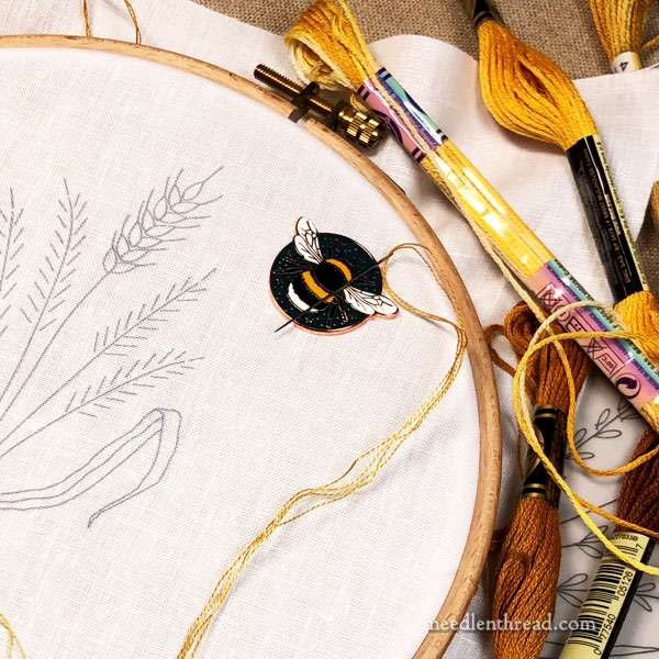 How to Embroider Wheat Five Ways