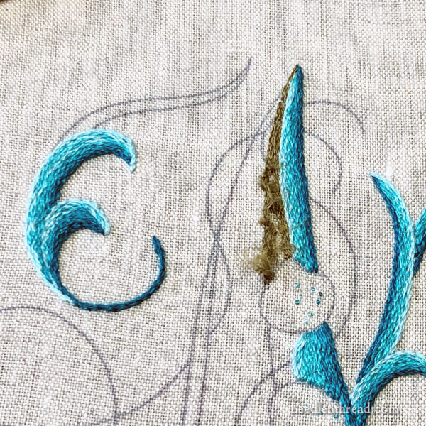 Sea to Stitch Monogram M: color selections