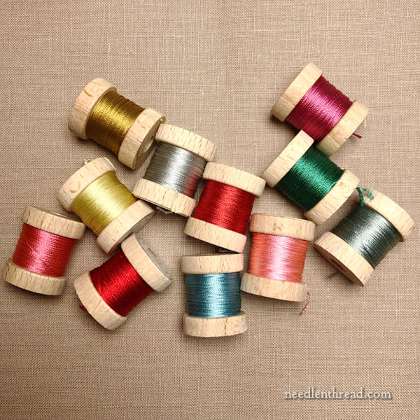 Silk embroidery threads - color collection for project