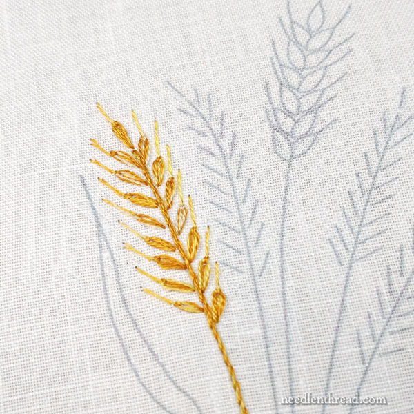 How to embroider wheat five different ways