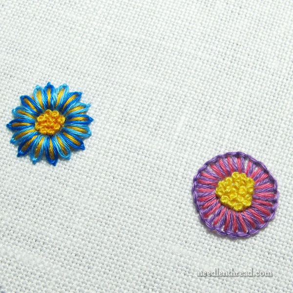 Little Embroidered Bits - isolated floral elements