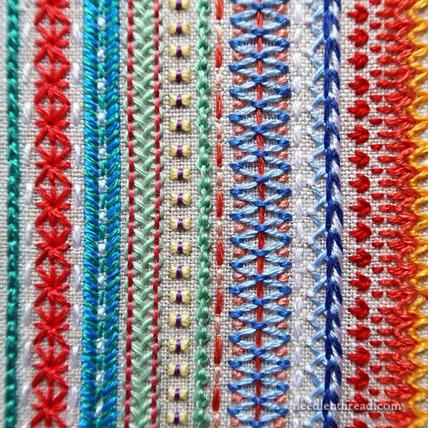 Stitch Fun 2021 embroidery sampler