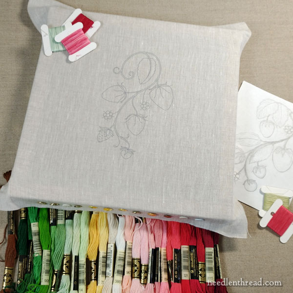 How to Embroider Strawberries - Introduction