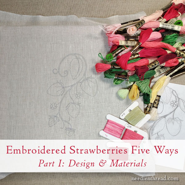 How to Embroider Strawberries: Free Design & Tutorials
