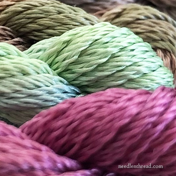 Chameleon overdyed hand embroidery threads