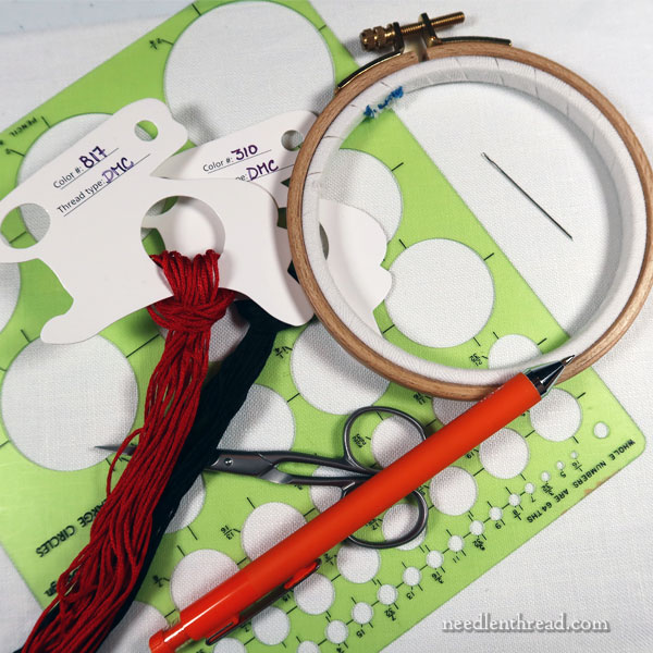 How to Embroider a Ladybug