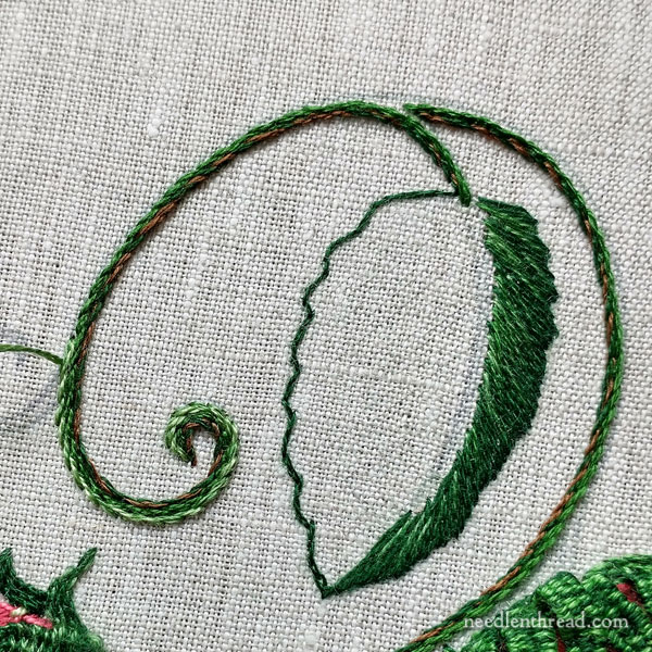 How to Embroider Strawberries - Completed