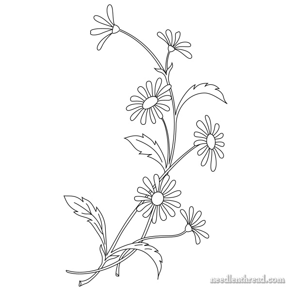How to Embroidery Daisies: Design and Materials