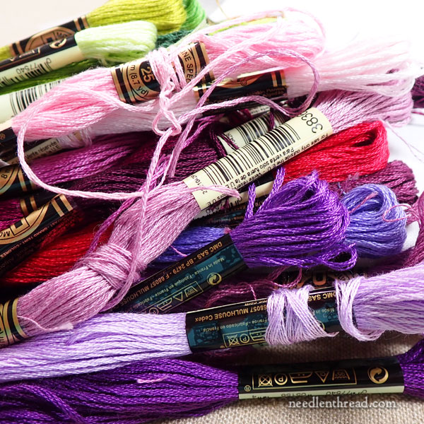 Choosing colors for embroidery projects