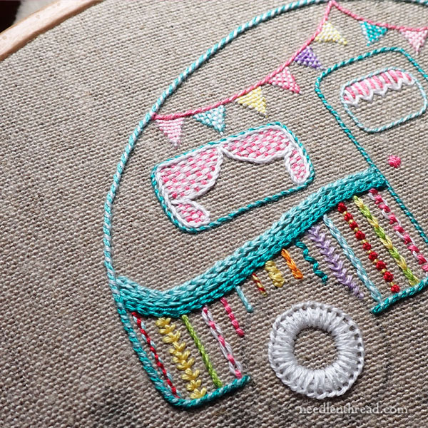 Happy Camper Embroidery Project