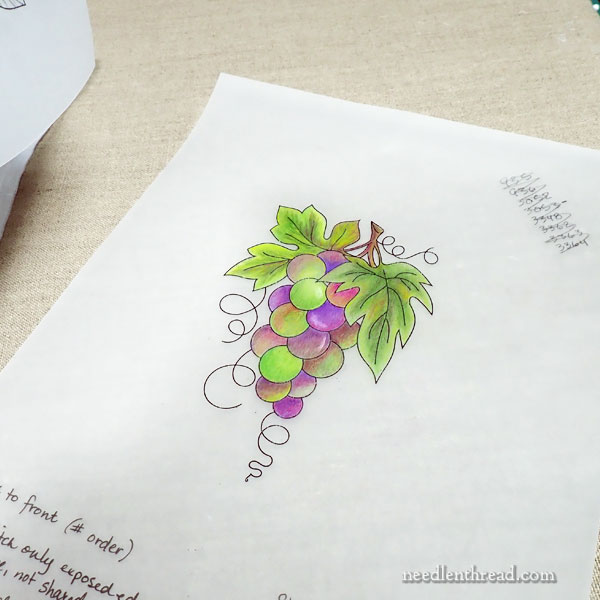 How to Embroider Grapes