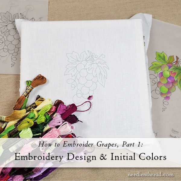 How to Embroidery Grapes - Design & Colors
