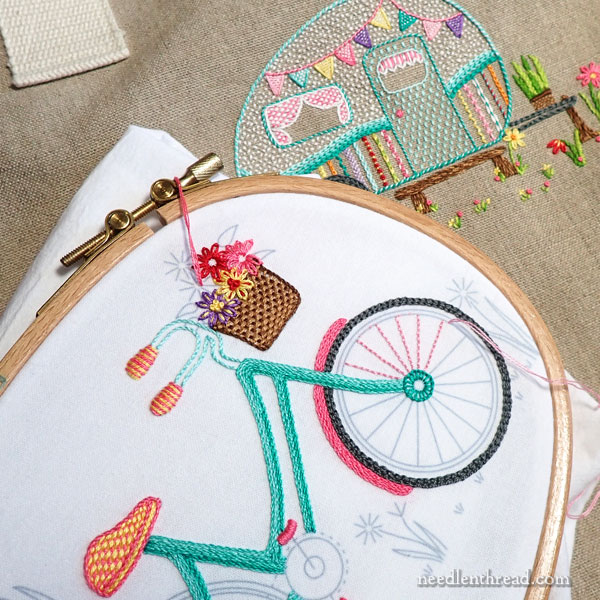 Summer Wheels embroidery projects