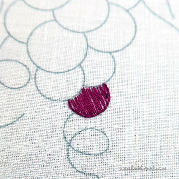 embroidered grapes - basic fillings