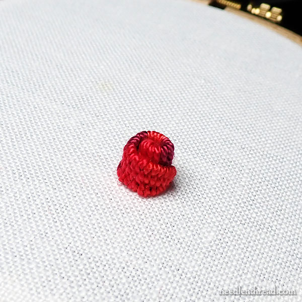 Rolled Woven Picot - embroidery stitch