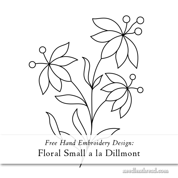 Dillmont floral small hand embroidery design