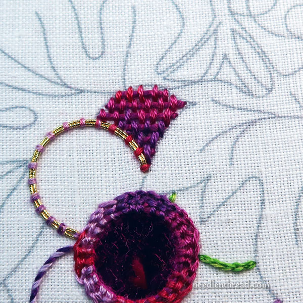 how to embroidery grapes - last grapes