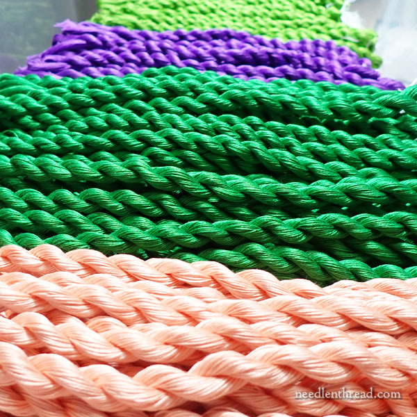 Twists of Floche embroidery thread
