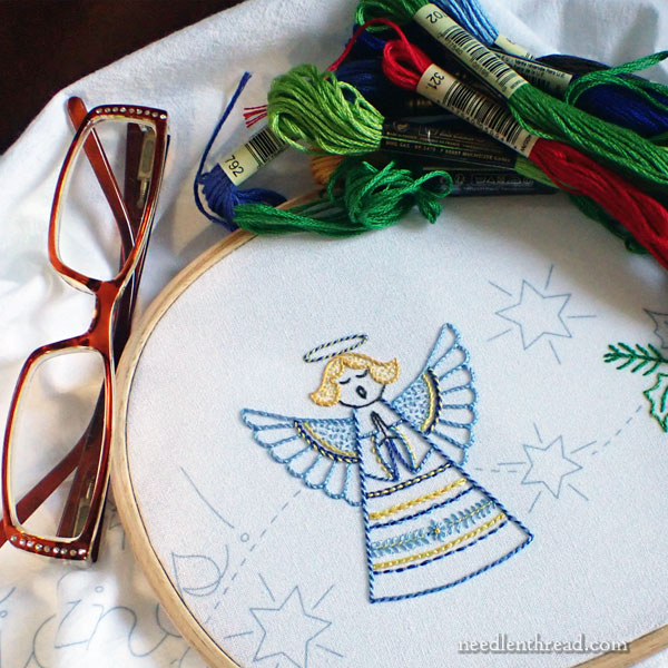 Glad Tidings Angel embroidery